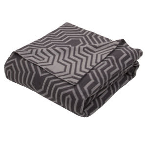 Jaipur Living Trinity Throw Tri-04 Tri08 Castlerock And Neutral Gray