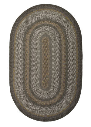 Jaipur Living Ultra Durable Braided Rugs Dover Ubr03 Darkest Spruce - Steel Gray Area Rug