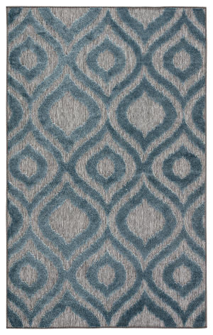 Jaipur Living Unika By Nikki Chu Ezzine Una05 Gray - Blue Area Rug