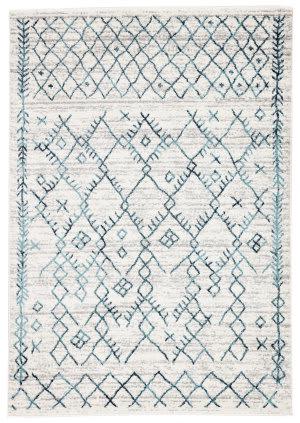 Jaipur Living Valen Copeland Val02 White - Teal Area Rug