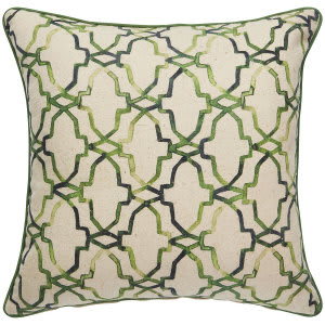 Jaipur Living Verdigris Pillow Esmeralda Ved03 Green - Beige