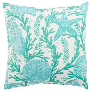 Jaipur Living Veranda Pillow Odl Cove Ver131 Aqua - White