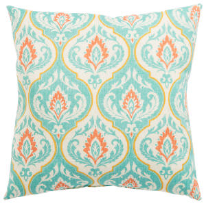 Jaipur Living Veranda Pillow Ragone Fresco Ver145 Turquoise - Orange