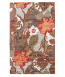 Custom Jaipur Living Blue Petal Pusher BL12 Mahogany - Apricot Orange Area Rug