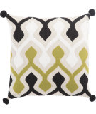 Jaipur Living Cosmic By Nikki Chu Pillow Ophelia Cnk48 Green - Ivory