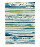 Jaipur Living Colours Sketchy Lines Co19 Snow White - Mallard Blue Area Rug