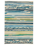 Jaipur Living Colours Sketchy Lines Co19 Snow White - Mallard Blue Area Rug