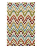 Jaipur Living Coastal Lagoon Bahia COL18 Burnt Orange - Cyan Blue Area Rug