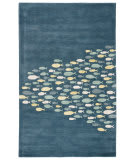 Custom Jaipur Living Coastal Resort Schooled COR01 Captains Blue - Harbor Gray Area Rug