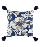 Jaipur Living Omni Pillow By Nikki Chu Rosetti Omn05 Blue - White