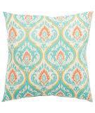 Jaipur Living Veranda Pillow Ragone Fresco Ver145 Turquoise - Orange