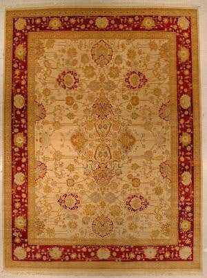 J. Aziz Haj Jalili V-1663 Ivory / Red Area Rug