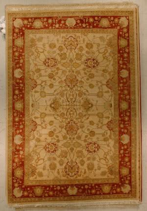 J. Aziz Haj Jalili V-1663 Ivory / Rust Area Rug