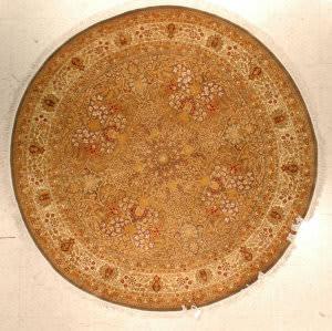 J. Aziz Shah Abbas 1604 Walnut / Ivory Area Rug