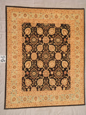 J. Aziz Peshawar Ult-797 Black- Soft Blue 87036 Area Rug