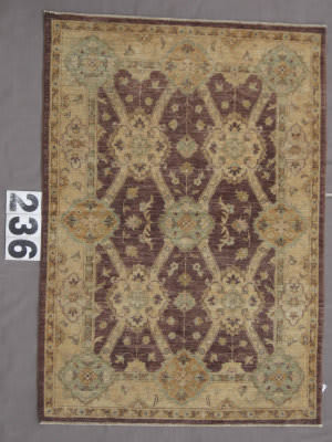 J. Aziz Peshawar Wool-Sil Brown-Beige 87058 Area Rug