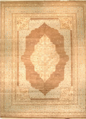 J. Aziz Haj Jalili V-1726 Walnut / Light Blue Area Rug