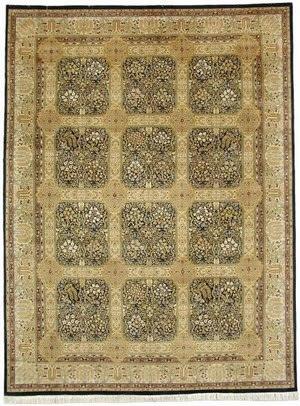 Jerry H Aziz Lahore (16/18 Shah Abbas) 1661 Black / Lemon Area Rug