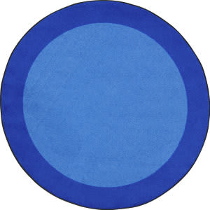 Joy Carpets Kid Essentials All Around Blue Area Rug