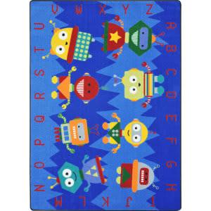 Joy Carpets Kid Essentials Alphabet Bots Multi Area Rug