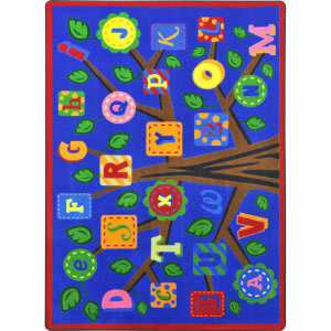 Joy Carpets Kid Essentials Alphabet Leaves Bold Area Rug