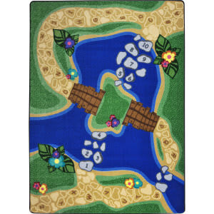 Joy Carpets Kid Essentials Alphabet Trail Multi Area Rug