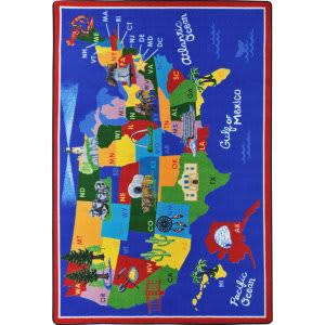 Joy Carpets Kid Essentials America The Beautiful Multi Area Rug
