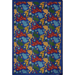 Joy Carpets Playful Patterns Animal Crackers Multi Area Rug