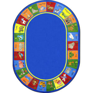 Joy Carpets Kid Essentials Animal Phonics Multi Area Rug