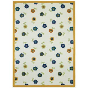 Joy Carpets Kid Essentials Awesome Blossom Bold Area Rug