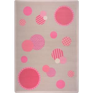 Joy Carpets Playful Patterns Baby Dots Pink Area Rug