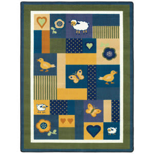 Joy Carpets Kid Essentials Baby Love Bold Area Rug