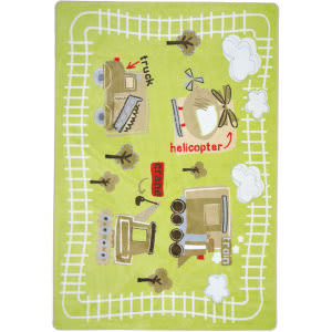Joy Carpets Kid Essentials Big Machines Multi Area Rug