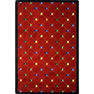 Joy Carpets Games People Play Billiards Red Area Rug