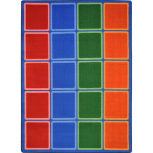 Joy Carpets Kid Essentials Blocks Abound Primary Area Rug