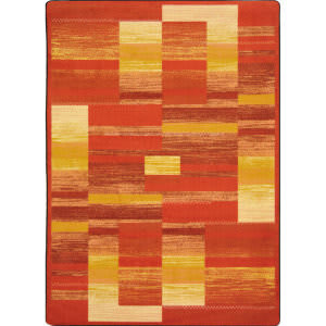 Joy Carpets Kid Essentials Boomblox Orange Area Rug