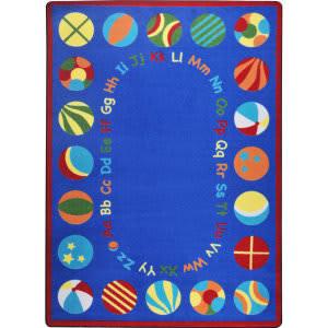 Joy Carpets Kid Essentials Bouncy Balls Multi Area Rug