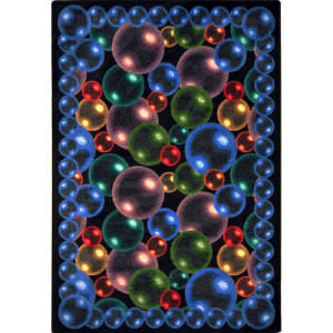 Joy Carpets Kaleidoscope Bubbles Rainbow Area Rug