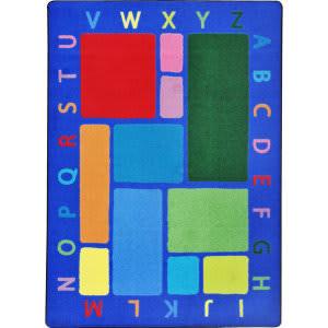 Joy Carpets Kid Essentials Building Blocks Multi Area Rug