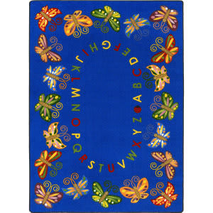 Joy Carpets Kid Essentials Butterfly Delight Multi Area Rug