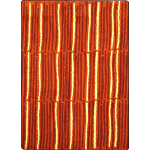 Joy Carpets Kid Essentials Cascade Orange Area Rug