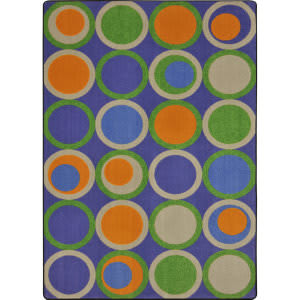 Joy Carpets Kid Essentials Circle Back Violet Area Rug