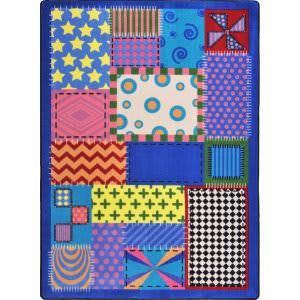 Joy Carpets Kid Essentials Crazy Quilt Multi Area Rug