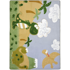 Joy Carpets Kid Essentials Dino Fun Multi Area Rug