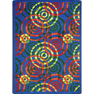 Joy Carpets Kid Essentials Dottie Rainbow Area Rug