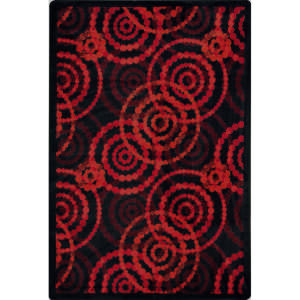 Joy Carpets Kid Essentials Dottie Ruby Area Rug