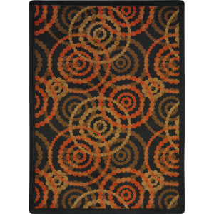 Joy Carpets Kid Essentials Dottie Warm Earth Area Rug