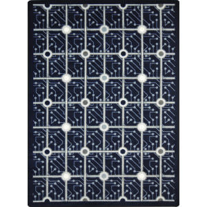Joy Carpets Kaleidoscope Electrode Navy Area Rug