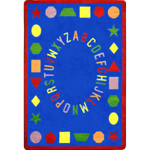 Joy Carpets Kid Essentials First Lessons Blue Area Rug