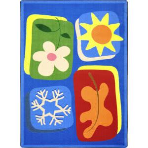 Joy Carpets Kid Essentials First Seasons Multi Area Rug